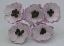 PALE LILAC POPPY / PAPAVER (1.8 cm) Mulberry Paper Flowers